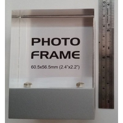 ON SALE BELOW EQP PRICING Clock, Acrylic Photo Frame, Thermometer on a swivel base