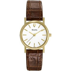 Bulova Ladies' Watch with Brown Leather Strap