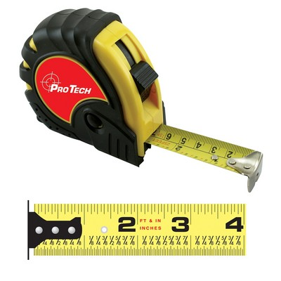 HD English/Metric Power Tape Measure w/Laminate or Dome Label (25'x1