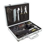Custom 27 Piece Home Travel Tool Set W/ Aluminum Case