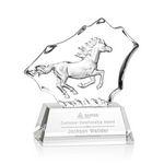Custom Ottavia Horse Optical Crystal Award (7