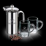 Custom 26 Oz. French Coffee Press w/ 2 Haworth Mugs