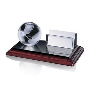 Business Card Holder - Globe on Albion