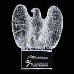 Custom Pemberton Eagle Crystal Award on Optical Base