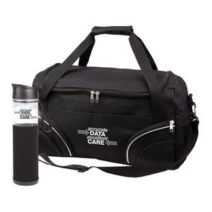 The Highland Duffel/Bottle Set - Black