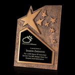 Custom Ruddington Gold Star Award (6 3/4