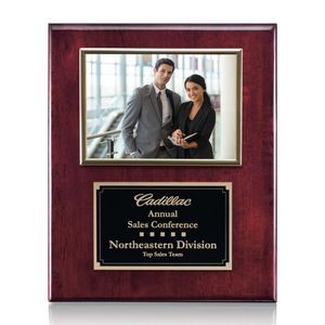 "Metcalfe Plaque - Rosewood/Gold 5""x7"" Photo"