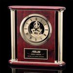 Custom Orwell Rosewood Clock w/ Gold Trim