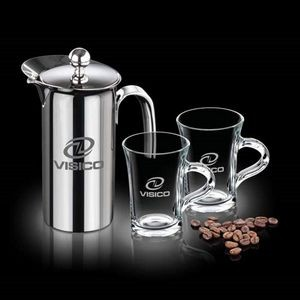 French Coffee Press & 2 Selkirk Mugs