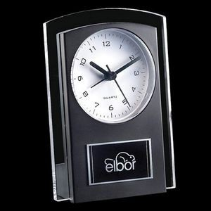 Mallory Clock - Black/Clear 5½""