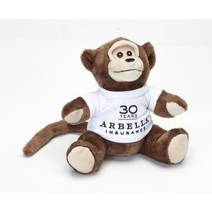 "7"" Extra Soft Monkey Stuffed Animal"