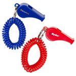 Custom Whistle Coil Key Chain (Direct Import - 10 Weeks Ocean)