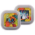 Custom Small Clear Top Square Tin - Gummy Bears