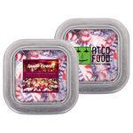 Custom Small Clear Top Square Tin - Starlite Peppermint Candy