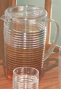Ringed Pitcher with Lid (96 Oz)