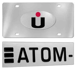 Stainless Steel Mirror Polish License Plate (Overseas Production)
