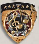 Custom Music Stock Full Color Burst Medal (3