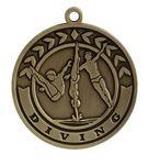 Custom Diving Stock Die Cast Medal (2