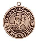 Custom Cross Country Stock Die Cast Medal (2