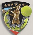 Custom Female Tennis Stock Full Color Burst Medal (3