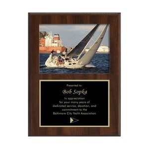 "Picture Plaque w/ 5""x7"" Picture Slot (9""x12"")"