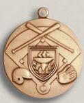 Custom Plain Center Stock Die Struck Medal (1.75