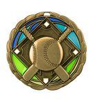 Custom Baseball Die Cast Suncatcher Medal (2.5