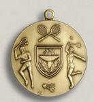 Custom Lacrosse Female Stock Die Struck Medal (1.75