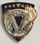 Custom Victory Stock Full Color Burst Medal (3