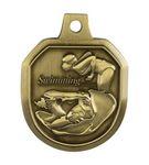 Custom Swimming Female Stock Die Cast Medal (1.5