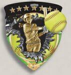 Custom Baseball Stock Full Color Burst Medal (3
