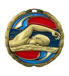 Custom Swimming Die Cast Suncatcher Medal (2.5