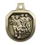 Custom Cross Country Male Stock Die Cast Medal (1.5