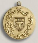 Custom Gymnastics Female Stock Die Struck Medal (1.75