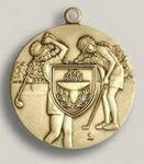 Custom Golf Female Stock Die Struck Medal (1.75