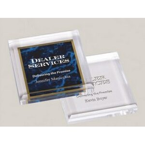 "Clear Acrylic Paperweight (3.75"" Square)"