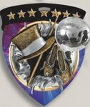 Custom Dance Stock Full Color Burst Medal (3