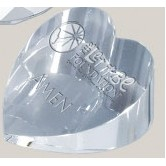 "Optical Crystal Heart Paperweight (2.75"")"
