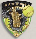 Custom Softball Stock Full Color Burst Medal (3