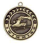 Custom Swimming Stock Die Cast Medal (2