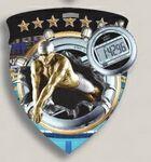 Custom Male Swimming Stock Full Color Burst Medal (3