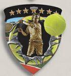 Custom Male Tennis Stock Full Color Burst Medal (3