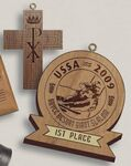 Custom Custom Shape Wood Medal (5