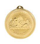 Custom Swimming Stock BriteLaser Medal (2