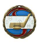 Custom Hockey Die Cast Suncatcher Medal (2.5
