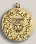Custom Water Skiing Stock Die Struck Medal (1.75