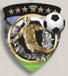 Custom Male Soccer Stock Full Color Burst Medal (3
