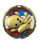 Custom Bowling Die Cast Suncatcher Medal (2.5