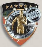 Custom Male Track Stock Full Color Burst Medal (3