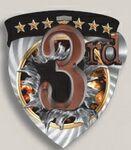 Custom 3rd Place Stock Full Color Burst Medal (3